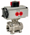 746 XS - 3 piece stainless steel ball valve double acting