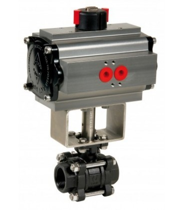737 XS - 3 piece carbon steel ball valve double acting