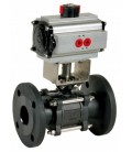 710 - 3 piece carbon steel flanged ball valve double acting