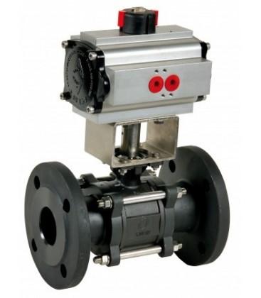 710 - 3 piece carbon steel flanged ball valve