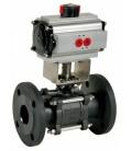765 XS - 3 piece carbon steel flanged ball valve spring return