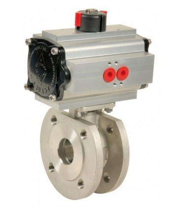 771 XS - Stainless steel flanged ball valve wafer type double acting