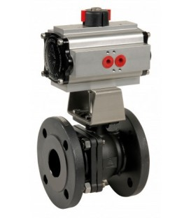 762 - Split-body carbon steel flanged ball valve double acting