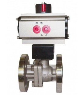 763 - Split-body stainless steel flanged ball valve