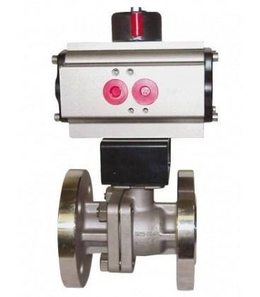 763 - Split-body stainless steel flanged ball valve