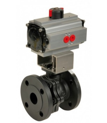 756 - Split-body carbon steel flanged ball valve double acting