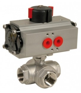 780 XS L - 3 way stainless steel ball valve double acting