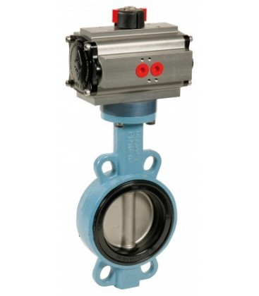 """1141 - Ductile iron butterfly valve for """"gas"""" double acting"""