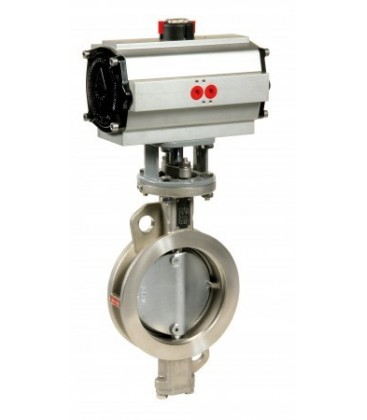 1114 - Stainless steel double offset butterfly valve double acting