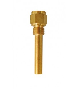 Brass thermowells 1/2""