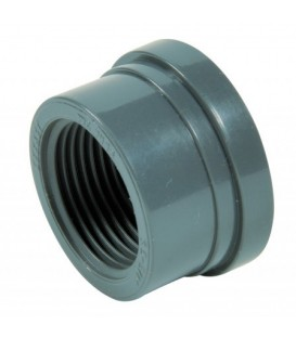 Threaded collar for 3 piece union BSP