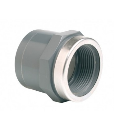 Threaded collar for 3 piece union BSP * max. pressure: 10 bar