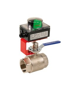 Ball valves with limit switch box