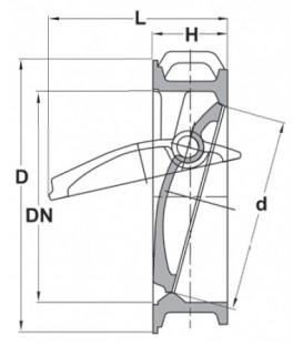 Kappeskive kontrol ventil*